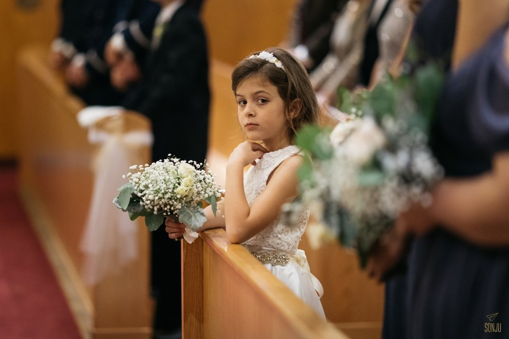 Flower girl at Coral Gables church
