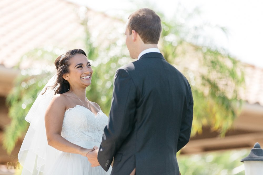 First look at Wedding at Club of Boca Pointe Boca Raton