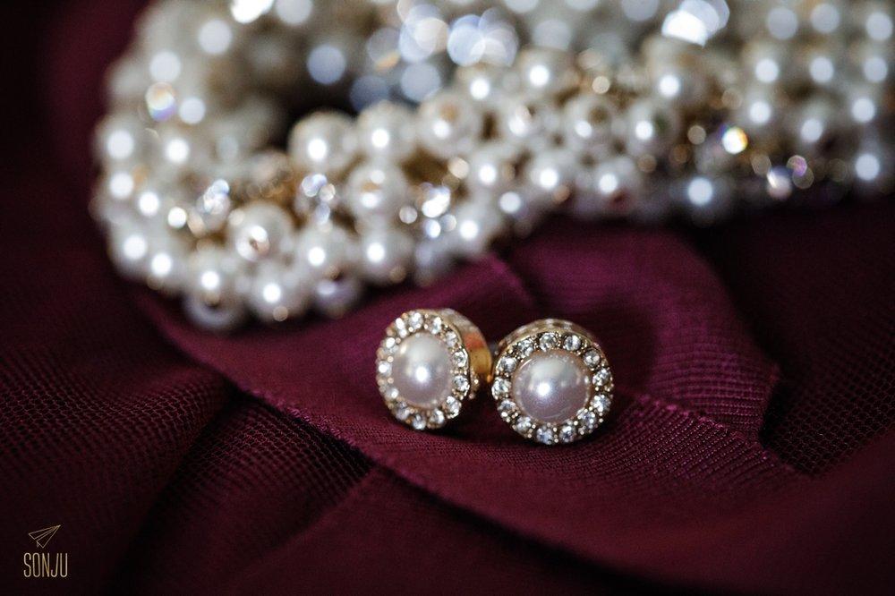 Bridal details at Boca Raton wedding