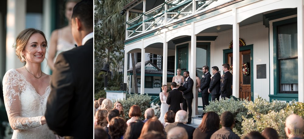Wedding ceremony at the Stranahan House & Museum