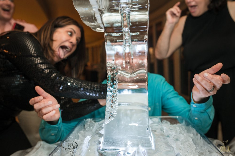 Ice Luge at Miami Wedding