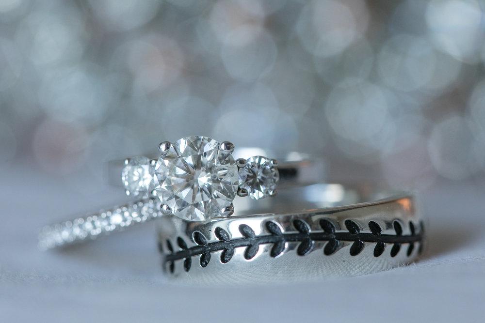 Macro ring shot of wedding rings at the Hilton Fort Lauderdale Beach Resort in South Florida
