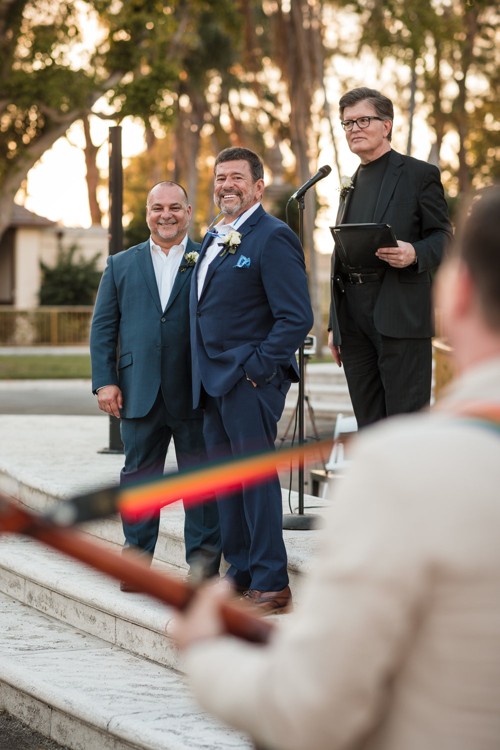 Guest starts a Madonna sing a long during the first same sex wedding ceremony at the Hialeah Racing Track and Casino in Miami Florida
