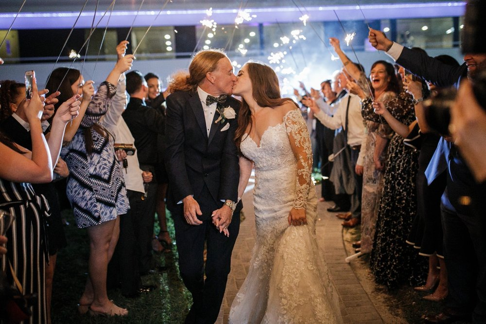 Fort-Lauderdale-Wedding-Photographer-Sparkler-Exit-from-Yacht