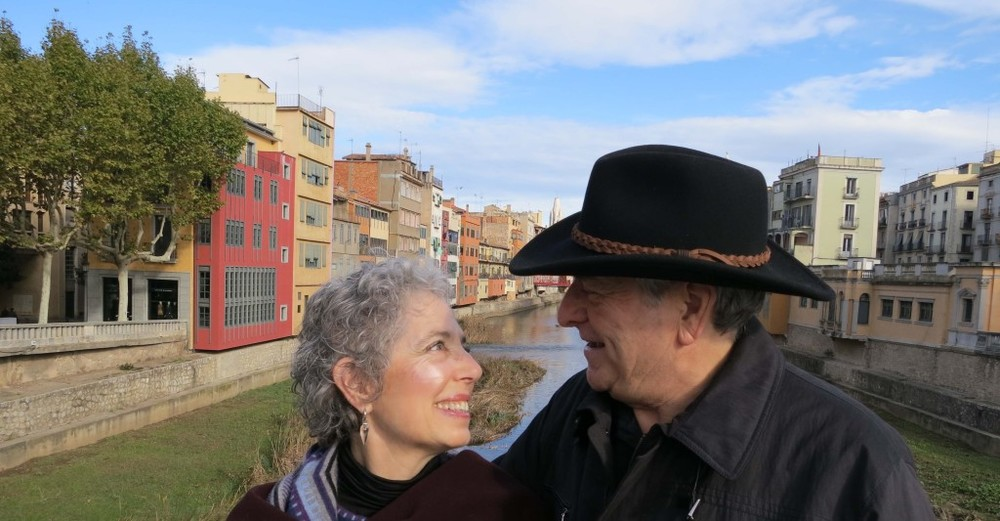 Pilgrims Process founders Gary White and Elyn Aviva in Girona, Spain.