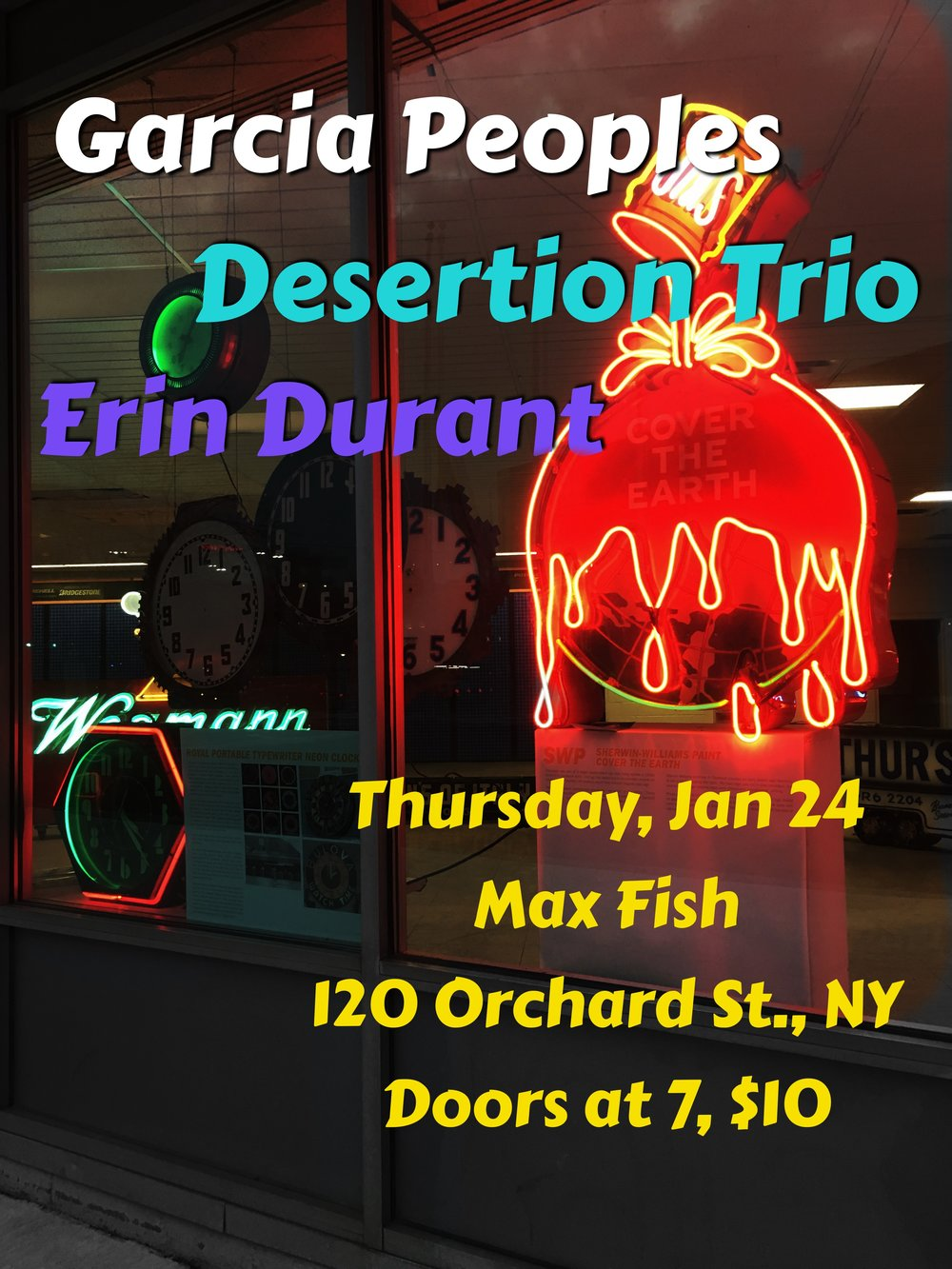 LIVE MUSIC NOT TO BE MISSED THURSDAY JAN. 24TH @maxfishbar