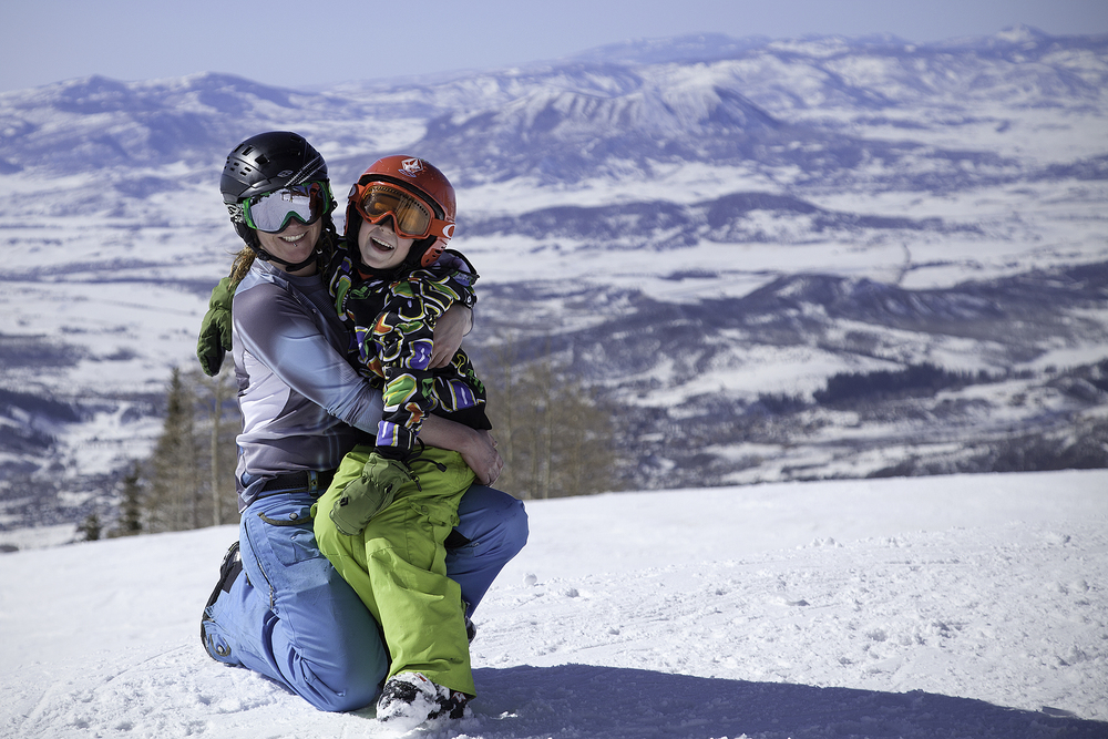 Celebrating my birthday with my boy on top of Mt. Werner - Steamboat Springs Resort