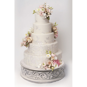 Embossed Cake Plateaus — Wedding cake stands crafted in the U.S.A
