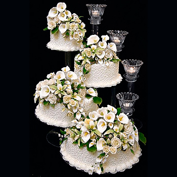Large 4 Tier Cake Stand Set