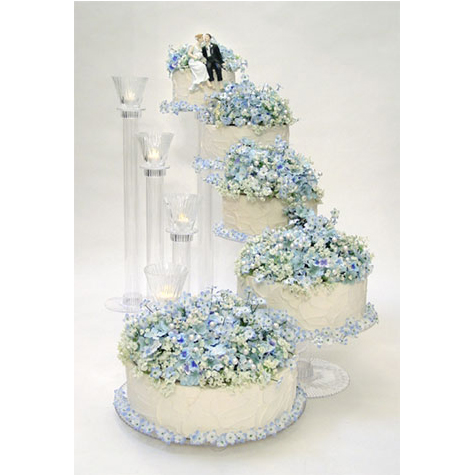 5 Tier Cascading Stairway Cake Stand Set