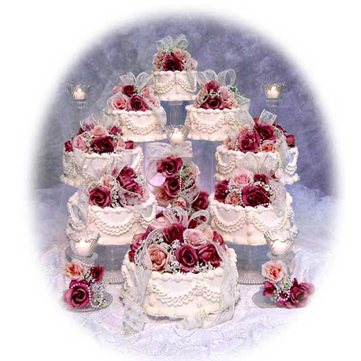 8 Tier Cascading Wedding Cake Stand Set