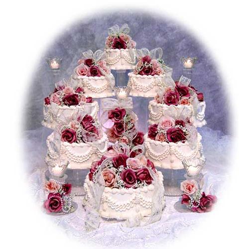 8 Tier Cascading Wedding Cake Stand Set — Wedding cake stands ...