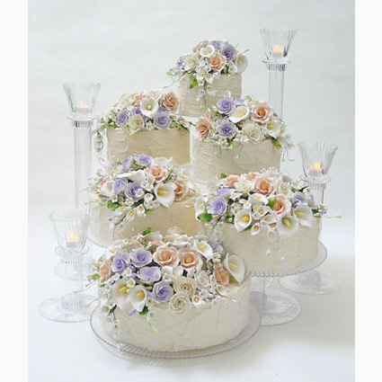 Cascading Wedding Cake Tiers