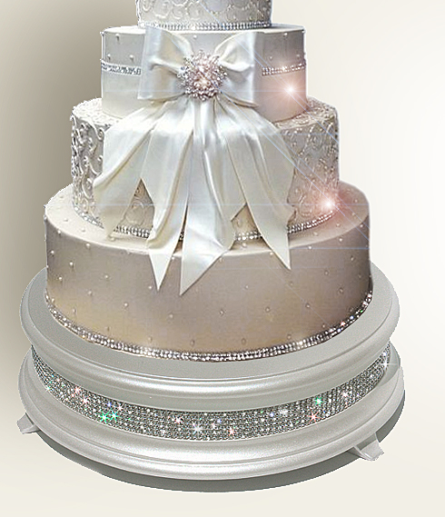 Sparkling Crystal Elegance Wedding Cake Stands from $139.00