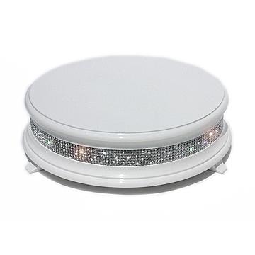 white diamond cake stand