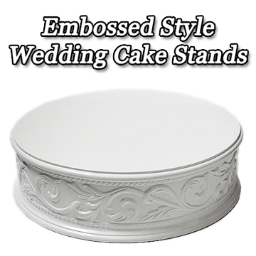 E mbossed Style Wedding Cake Stands