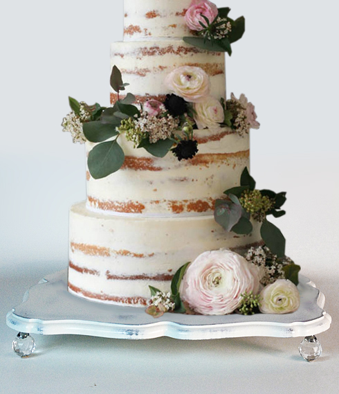 shabby chic vintage white platform wedding cake stands $75.00