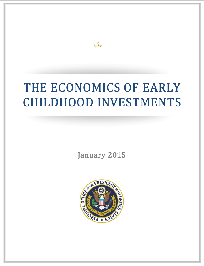 The White House cites Chloe Gibbs  and others in this report on investing in early childhood education.