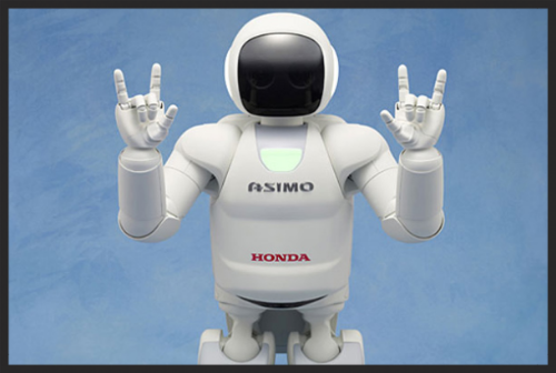 Honda's Asimo Robot, the most advanced humanoid robot.