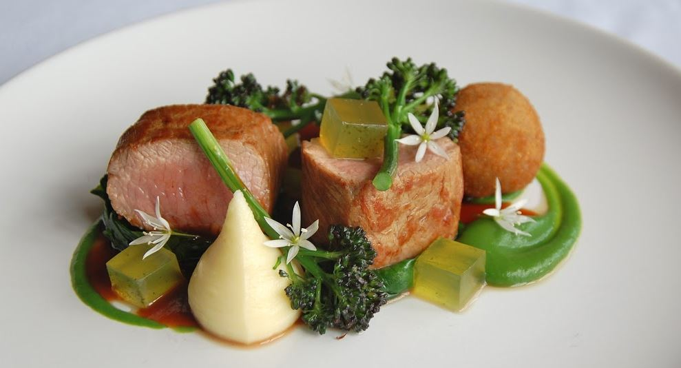 Lamb Saddle & Shoulder with Wild Garlic, Broccoli and Mint