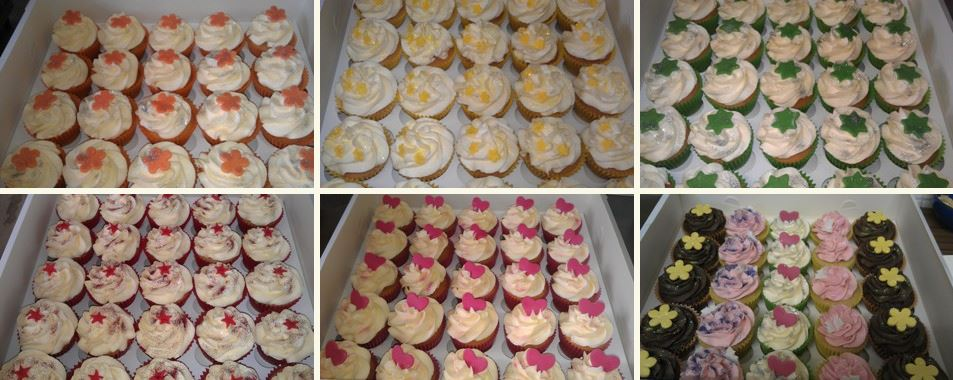A collection of Simply Cakes' cupcakes.