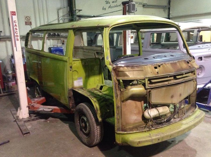 How the van used to look, before care and restoration.