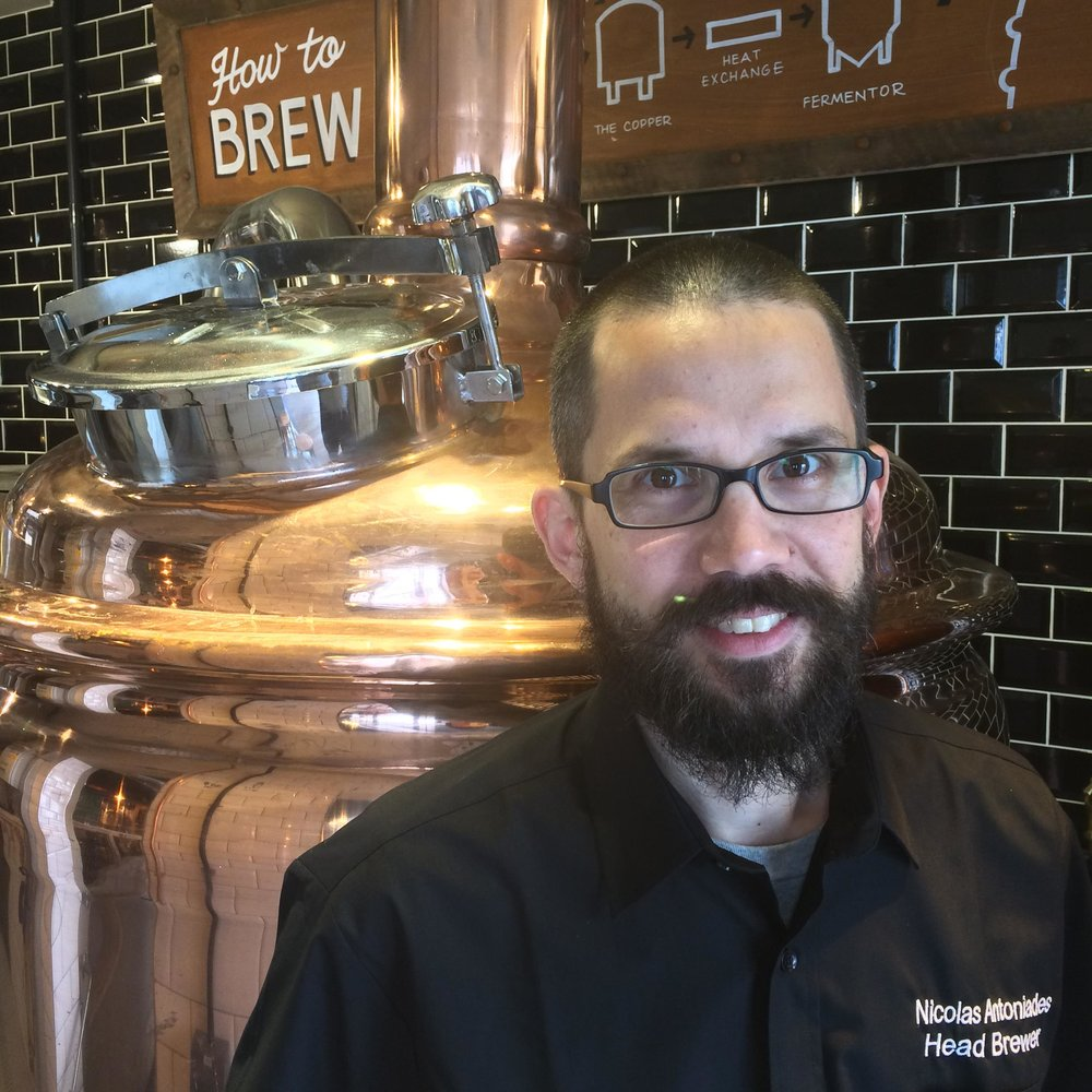 Nick Antoniades, Head Brewer at Brewhouse and Kitchen