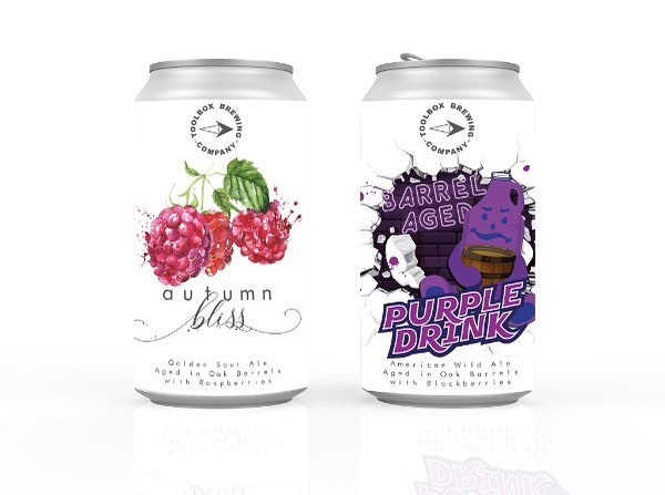 🚨BA SOUR DUAL CAN RELEASE🚨 ‼️THIS WEDNESDAY‼️ 〰️ Your two favorites are back and in a shiny new package! 〰️ 🍷AUTUMN BLISS Barrel Aged Golden Sour Ale with Raspberries 7.0% Alc. by Vol. Price: $10 / 12oz Can (includes Tax & CRV) 〰️ 🍷BA PURPLE DRINK Barrel Aged American Wild Ale with Blackberries 6.8% Alc. by Vol. Price: $10 / 12oz Can (includes Tax & CRV) 〰️ AVAILABLE THIS WEDNESDAY (9/19)! 〰️ ON SITE: Starting Wednesday at 3pm, both beers will be available on tap and to-go. Complete tap list available online. Tasting room open 3pm to 8pm. 〰️ ONLINE: Web sales will be live starting Wednesday, Sept 19th at Noon (12pm PST) and will be available for in-house pickup starting Wednesday during normal tasting room hours. Orders must be retrieved within 30 days from date of purchase. Proxies allowed with valid 21+ ID. 〰️ See our web store for details and instructions. (Link in bio.) Cheers! #toolboxbrewing #artfullyengineered #unconventional #sourbeer #purpledrink #autumnbliss #barrelaged