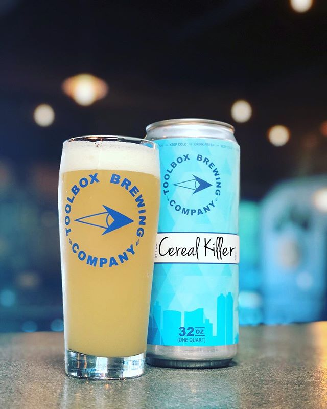 🚨JUST TAPPED: CEREAL KILLER🚨 A milkshake IPA brewed with oats & milk sugar. Dry-hopped with 100% Citra hops. 8.0% ABV. Available for crowler fills. . ➕Plus today... . 🚨IT'S CROWLER FILL THURSDAY🚨 ‼️‼️$3 OFF ALL FILLS‼️‼️ Crowlers available for purchase or bring your favorite (clean) growler to fill. Complete tap menu available online. Tasting room open 3-8pm.  Cheers!🍻 #toolboxbrewing #sdbeer #milkshakeipa