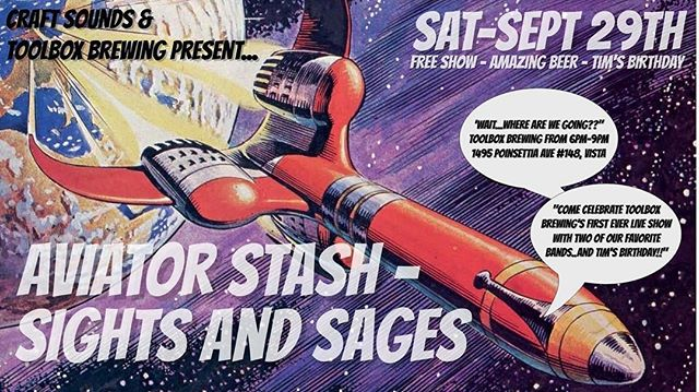 Tonight's the night!!! Beer!🍻 Food truck!🌮 Free show!!🎸 Starts at 6pm but get there early! @aviatorstash @sightsandsages @toolboxbrewing