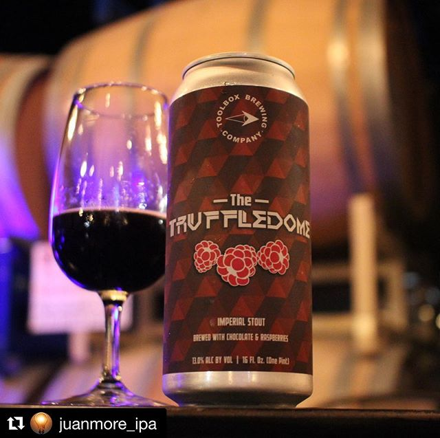 Thank you so much! We could not agree more! 😋 Cans are still available. Don't miss out on this one! Tasting room pouring today until 7pm. Cheers!! 🍻 ・・・ Repost @juanmore_ipa ・・・ @toolboxbrewing kicks ass!!! 👊🏻#truffledome #imperialstout with chocolate & raspberries is phenomenal!!! Best beer of the night!!!🥇 #toolboxbrewing #sdbeer