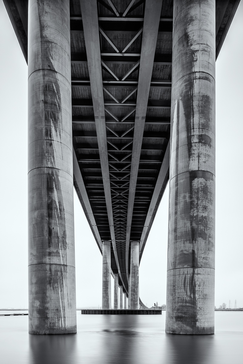 Under the Bridge, UK - Nikon D810 | Nikon 24mm f/3.5 PC-e tilt shift lens @ 8mm upward shift | 15sec at f/11 ISO 64 Lee Big Stopper 10 stop ND filter | Manfrotto Tripod and ball head