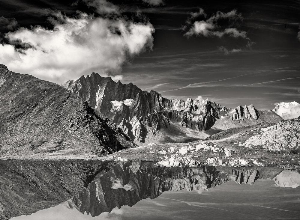 Valais Reflection, Switzerland - Nikon D810 | Nikon 24-70mm f/2.8 | 1/50 at f/9 at 70mm ISO 64 | 3 shot panoramic handheld