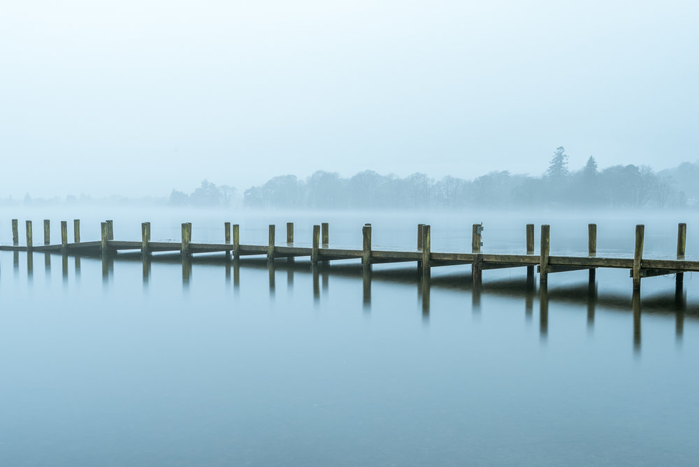 Coniston Water in the Mist - VI, Lake District UK -  Nikon D810 | Nikon 16-35mm f/4.0 @ f/11 35mm 10sec ISO 64 | Manfrotto tripod and ball head, no filters.