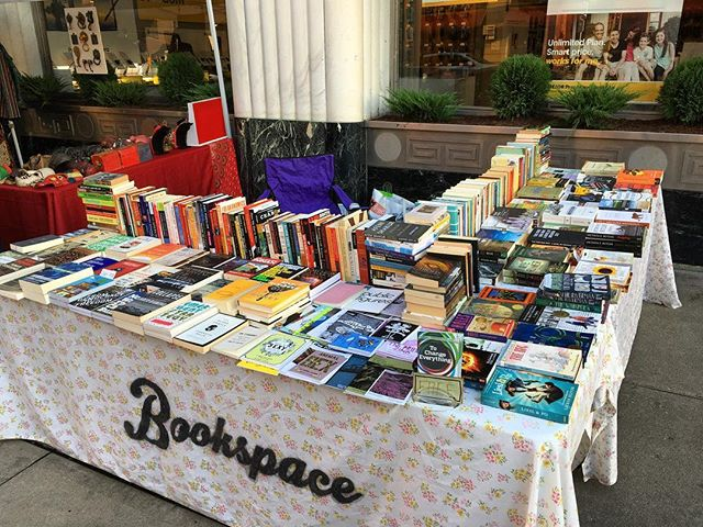 In addition to ILLIO on Friday, I'll be at the first @moonlightmarket of the season this Saturday the 13th from 6-11 pm on Gay Street downtown. The forecast is looking good. See ya there. 🙂 . . . #books #bookstore #bookspace #moonlightmarket