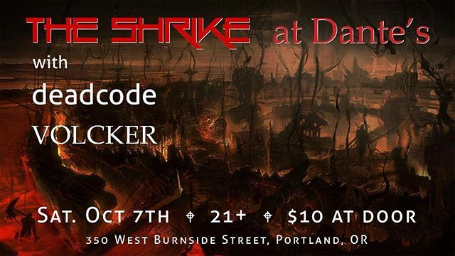 We are excited to perform in Portland on tour this Saturday. Join us at Dante's for our hometown show! #tour #theshrike #theshrikemusic #rock #alternative #femalefronted #hyperion #bluenailsarmy #dantes #roadlife #oregon #portland