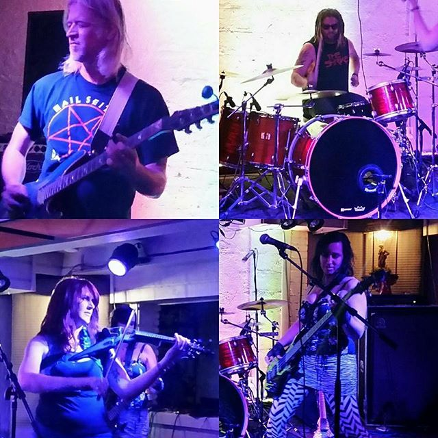 Pics from last nights show at The Space in Salem. What a fun venue, with amazing vegan food. Join us in Portland tonight at Dante's. #tour #thespace #salem #northwesttour #rock #alternative #hyperion #bluenailsarmy #femalefronted #portland #dantes #rawk