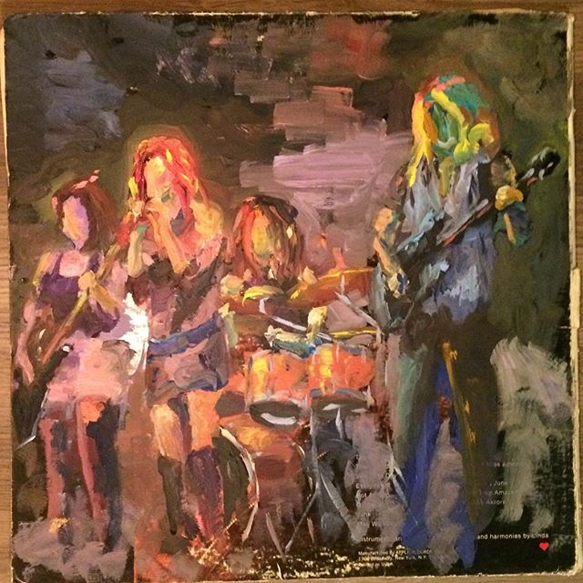 Another great live painting by @copperpipes. This is from our show at Lola's Room last week. Such fun. That was our last show of 2017. See you in 2018. #theshrike #livepainting #slowcamerapaparazzi #mcmenamins #rock