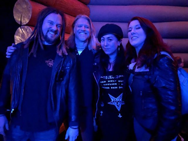 The Shrike was sighted at Doug Fir Lounge in Portland, Oregon attending the Motorbreath show. Look for them to start playing live shows again very soon.  #theshrike #dougfirlounge #bluenailsarmy #hyperion #femalefronted #portland #rock