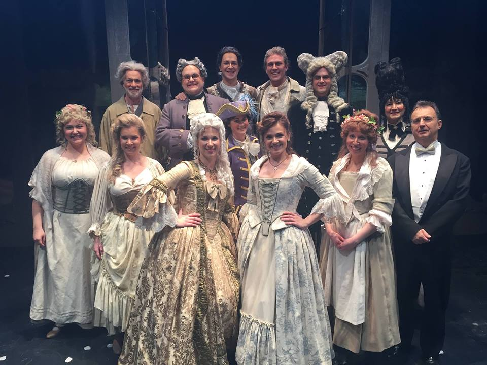 Emily (far left) as First Bridesmaid in Manitoba Opera's  Le nozze di Figaro . Winnipeg, Manitoba; November 2015.