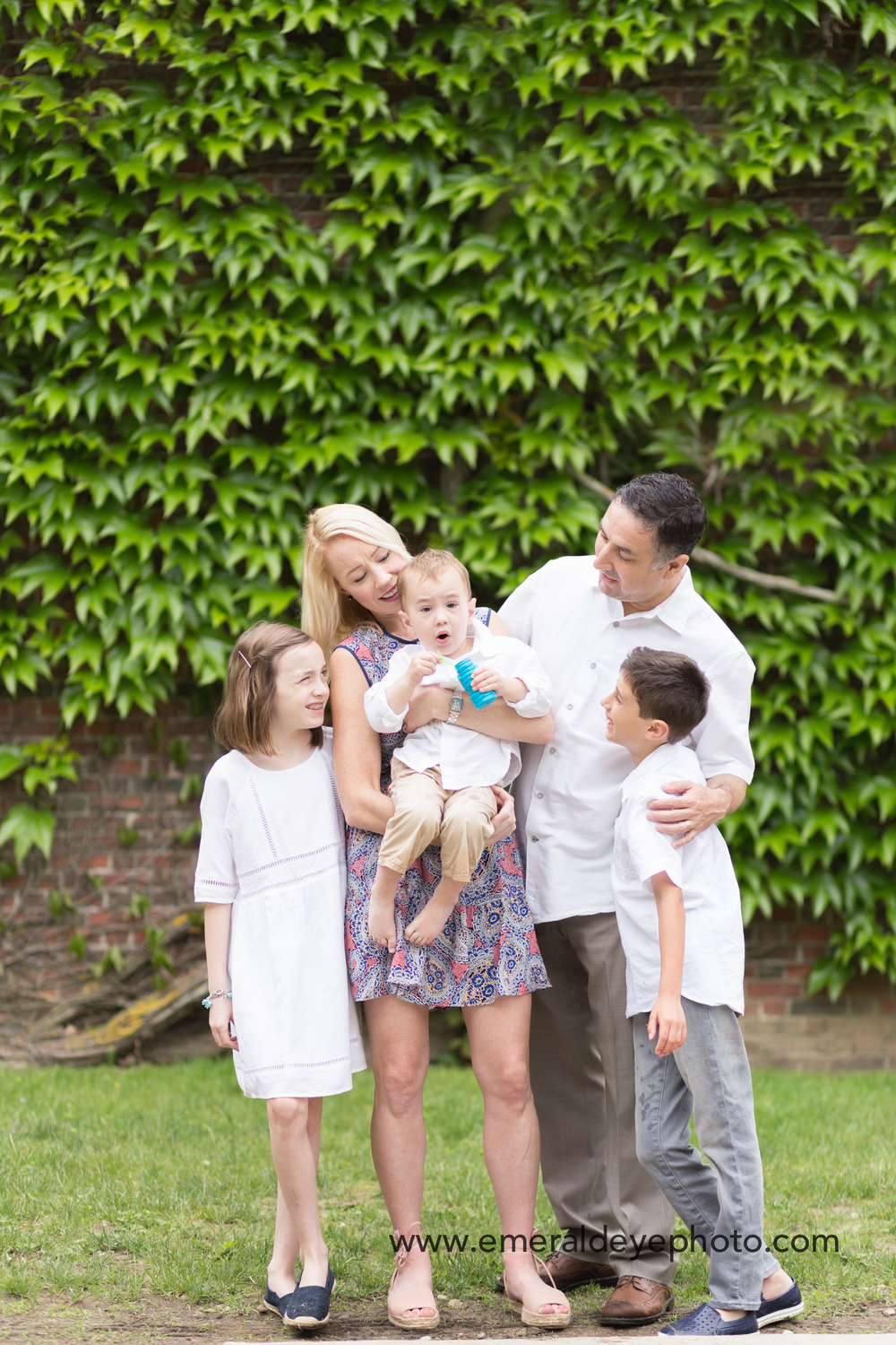 Family photos in Woods Hole Massachusetts