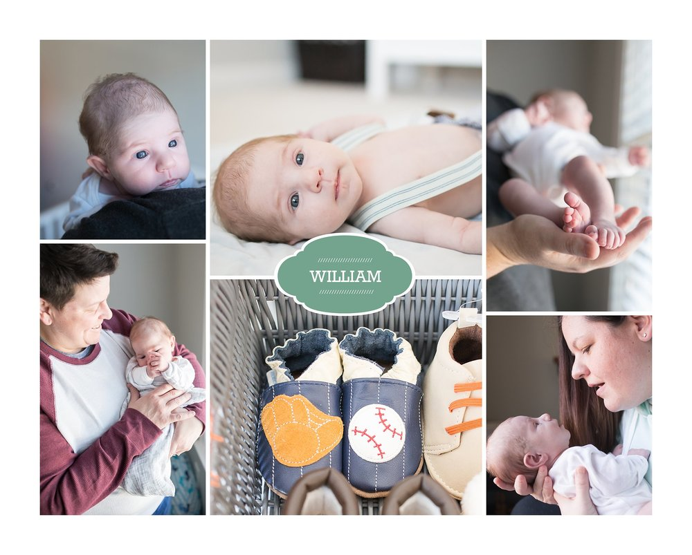 New baby collage available after Newborn Lifestyle and Fresh 48 sessions on Cape Cod Massachusetts