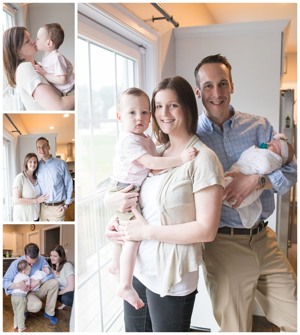 Family photos taken during Newborn in-home relaxed session with a Cape Cod photographer in Boston, Massachusetts.