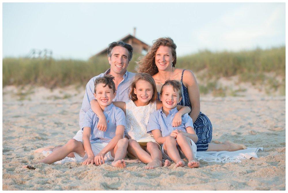 Cape Cod family during photo session in Truro Massachusetts