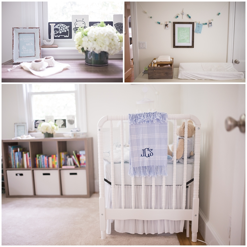 New baby details, Newborn nursery, Cape Cod
