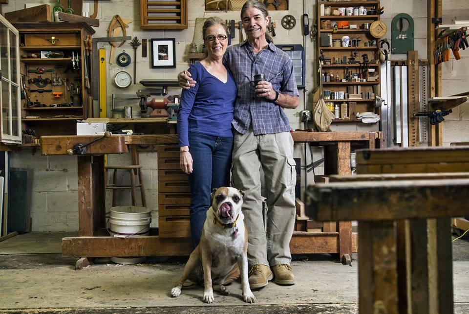 Ann & Mike in their Boylan Heights studio