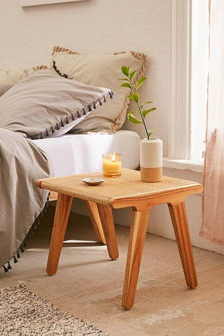 This sweet little danish/mid-century inspired stool is a winner with its raffia, gorgeous wood and smart lines.