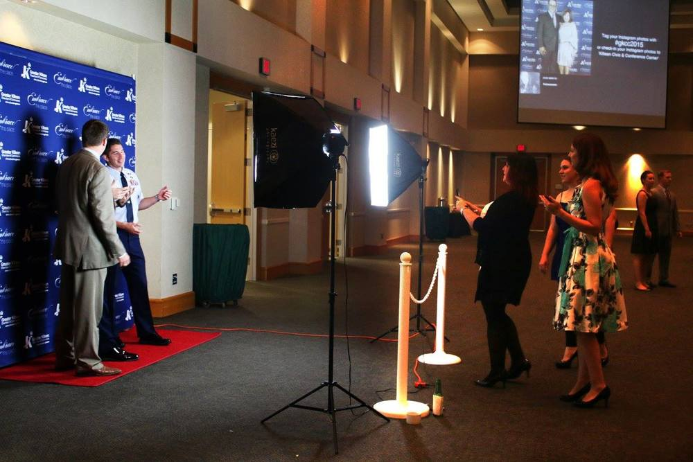 Bangarang's Aimeé Nesse running the step and repeat for the GKCC Banquet