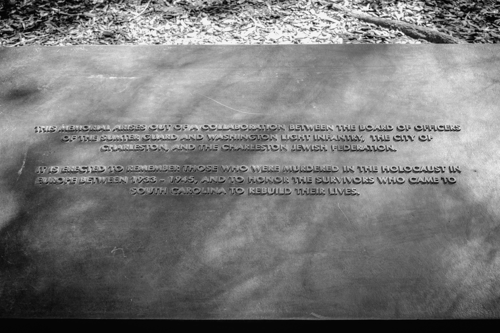 Holocaust memorial plaque at Marion Square