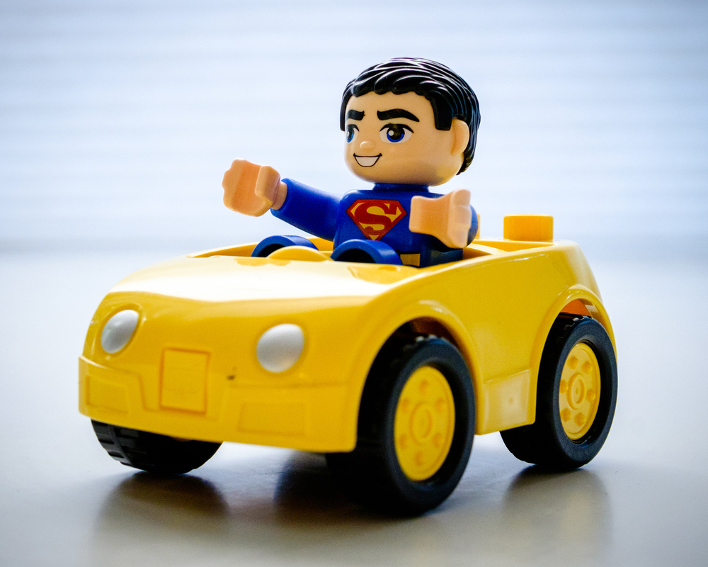 Superman goes for a drive